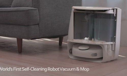 Robot hút bụi kiêm lau nhà có thể tự làm sạch chính mình