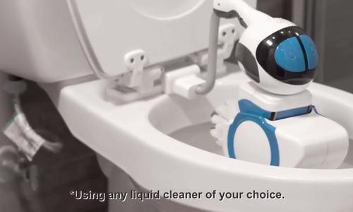 Robot vệ sinh bồn cầu tự động