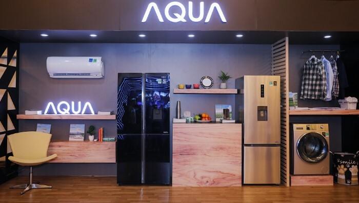Tại triển lãm Smart Living thuộc Tech Awards 2019, Aqua trưng bày những sản phẩm mới của thương hiệu, gồm tủ lạnh Flex Cooling AQR-IGW525EM, máy giặt AQD-Đ1050E và máy lạnh Inverter Smart Cool.