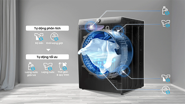 Tổng hợp các công nghệ giặt giũ nổi bật trên máy giặt Samsung