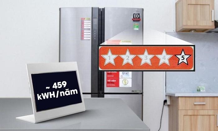 Tủ lạnh Side by side LG giúp tiết kiệm điện tối đa