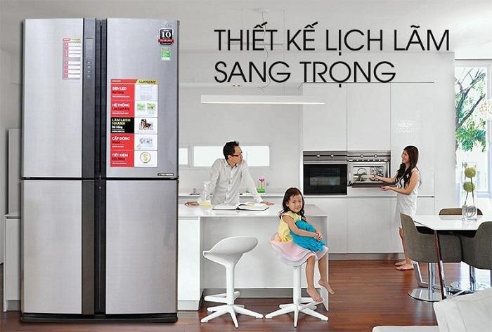 Tủ lạnh side by side LG mang thiết kế sang trọng