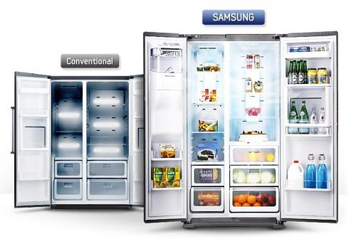 Tủ lạnh side by side Samsung thiết kế ngăn kép vô cùng thông minh