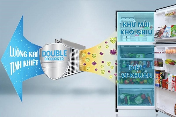 Công nghệ kháng khuẩn và khử mùi cao cấp có trong tủ lạnh Toshiba